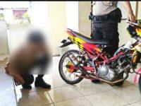 Polisi Amankan Sebuah Sepeda Motor Mengunakan Plat 'Ngawur' dan knalpot bising