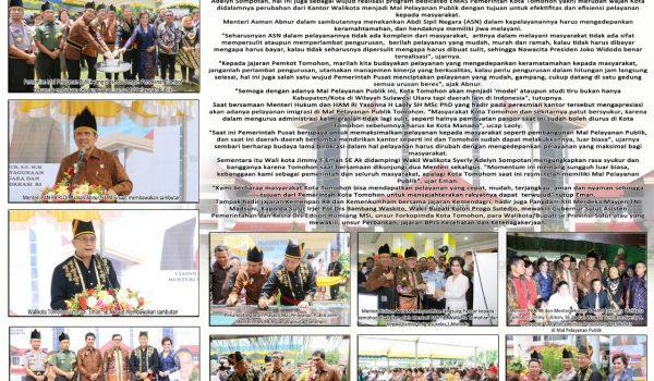 """Peresmian Mal Pelayanan Publik """"Wale Kabasaran"""" Kota Tomohon"""